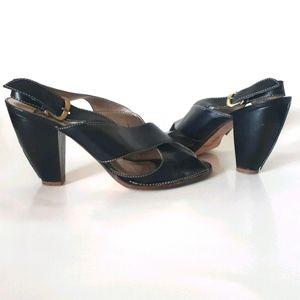 True Religion   Peep Toe Heeled Sandals